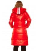 Красная зимняя куртка с лампасами M2142 (112142) - 3, 8