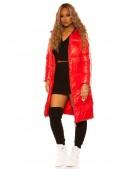 Красная зимняя куртка с лампасами M2142 (112142) - цена, 4