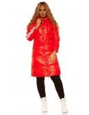 Красная зимняя куртка с лампасами M2142 (112142) - оригинальная одежда, 2