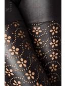 Перфорированные леггинсы под кожу (128190) - оригинальная одежда, 2