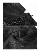 Текстурные кожаные леггинсы со шнуровкой (128236) - цена, 4