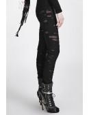 Леггинсы с прорезями Punk Rave (128195) - оригинальная одежда, 2