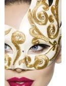 Венецианская маска с камнями и вышивкой A1079 (901079) - оригинальная одежда, 2