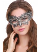 Ажурная серебристая маска Artistic (901040) - foto