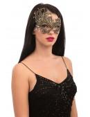 Золотистая карнавальная маска Artistic (901044) - оригинальная одежда, 2