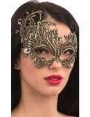 Золотистая карнавальная маска Artistic (901044) - foto