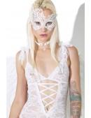 Белая ажурная маска для глаз A1046 (901046) - оригинальная одежда, 2