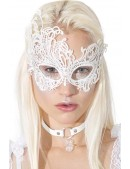 Белая ажурная маска для глаз A1046 (901046) - foto