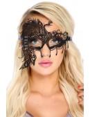 """Ажурная черная маска """"Павлин"""" DC1058 (901058) - foto"""