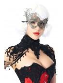 Карнавальная серебристая маска CC1069 (901069) - оригинальная одежда, 2