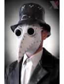 Белая маска чумного доктора XA1072 (901072) - оригинальная одежда, 2