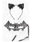 Карнавальная маска и обруч с ушками CC2001 (912001) - оригинальная одежда, 2