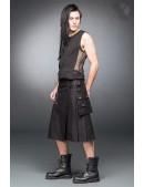 Черный килт с навесным карманом (204085) - foto