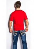 Красная футболка мужская MF2010 (202010) - материал, 6