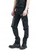 Черные мужские брюки с накладными карманами XTC7004 (207004) - цена, 4