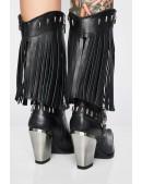 Женские кожаные казаки с бахромой NOMADA ITALI (7906-C1) - оригинальная одежда, 2