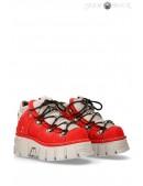 Красные кроссовки из нубука 106-C72 (M106-C72) - foto