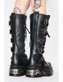 Черные кожаные сапоги 272-S1 New Rock (272-S1) - 4, 10
