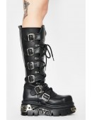 Черные кожаные сапоги 272-S1 New Rock (272-S1) - 3, 8