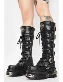 Черные кожаные сапоги 272-S1 New Rock (272-S1) - foto