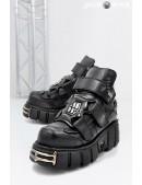 Черные кожаные ботинки ITALI 285-S1 (285-S1) - foto