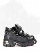 Ботинки с шипами и пентаграммой (110-S1) - foto