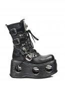 Ботинки с пружинами в платформе (373-S2) - foto