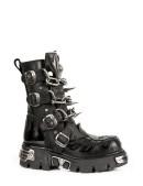 Ботинки с цепями и шипами (727-S1) - foto