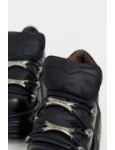 Черные кожаные кроссовки на массивной подошве M106 (M106-S1NEGRO) - оригинальная одежда, 2