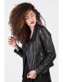 Черная женская куртка из натуральной кожи New Rock (112030) - оригинальная одежда, 2