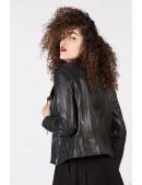 Черная женская куртка из натуральной кожи New Rock (112030) - цена, 4