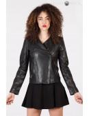 Черная женская куртка из натуральной кожи New Rock (112030) - foto