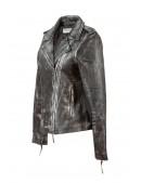 Женская куртка из натуральной винтажной кожи J015S1 (112031) - оригинальная одежда, 2