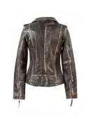 Женская куртка из натуральной винтажной кожи J015S1 (112031) - цена, 4
