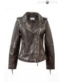 Женская куртка из натуральной винтажной кожи J015S1 (112031) - foto