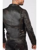 """Мужская куртка из """"состаренной"""" натуральной кожи J012S1 (206107) - цена, 4"""