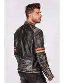 Мужская куртка из натуральной кожи New Rock (206109) - 3, 8