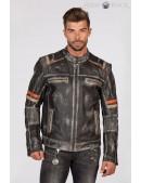 Мужская куртка из натуральной кожи New Rock (206109) - foto
