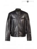 Черная мужская куртка из натуральной кожи New Rock (206111) - 4, 10
