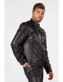 Черная мужская куртка из натуральной кожи New Rock (206111) - 3, 8