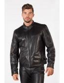 Черная мужская куртка из натуральной кожи New Rock (206111) - материал, 6