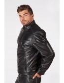 Черная мужская куртка из натуральной кожи New Rock (206111) - цена, 4