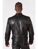 Черная мужская куртка из натуральной кожи New Rock (206111) - оригинальная одежда, 2
