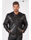 Черная мужская куртка из натуральной кожи New Rock (206111) - foto