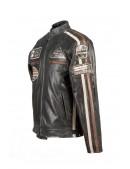 Черная мужская мотокуртка из натуральной кожи New Rock (206112) - оригинальная одежда, 2