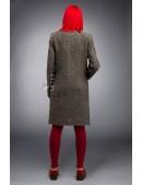 Твидовое пальто оверсайз X4034 (114034) - оригинальная одежда, 2