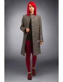 Твидовое пальто оверсайз X4034 (114034) - цена, 4