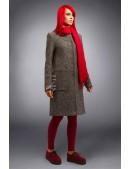 Твидовое пальто оверсайз X4034 (114034) - материал, 6