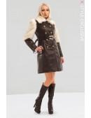Зимнее кожаное пальто с мехом X5050 (115050) - foto