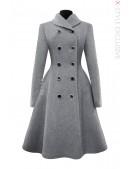 Зимнее шерстяное пальто X5054 (115054) - foto